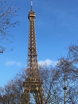 My first view of the wonderful Eiffel Tower Paris, France