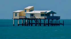 Stiltsville Miami, Florida U.S.A. Houses built to dodge the laws during prohibition between 1920 ...
