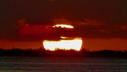 Big ball of fire, Biscayne Bay, Florida, U.S.A.