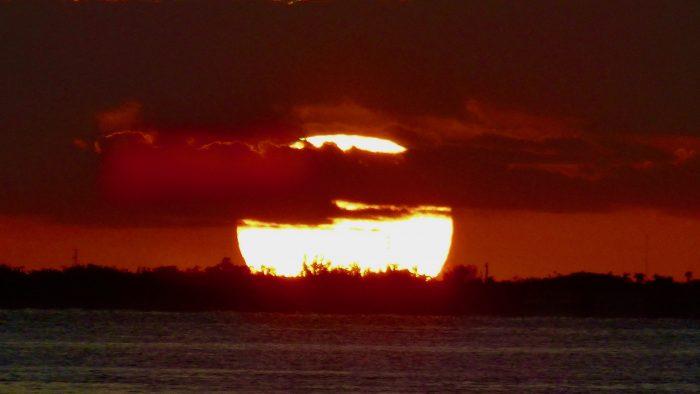 Big ball of fire, Biscayne Bay, Florida, U.S.A.