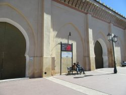 """A Mosque in Marrakech, Morocco, labeled as a """"green"""" mosque as part of a sustainabil ..."""