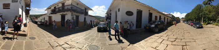 Barichara. The most beautiful town in Colombia. Panoramic street view