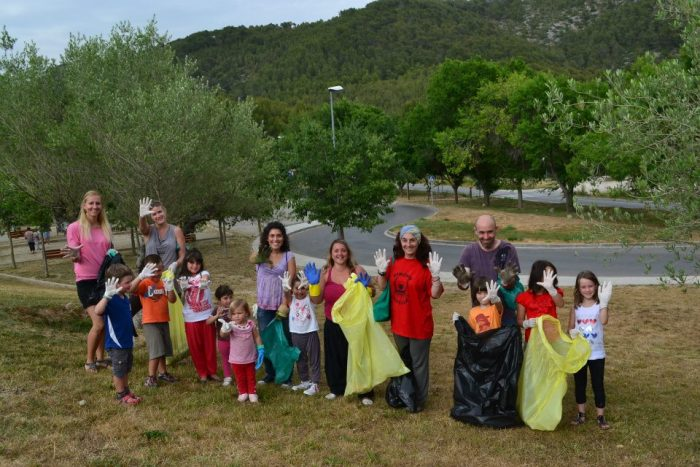 April 2012,  Cleaning up the village of Olivella